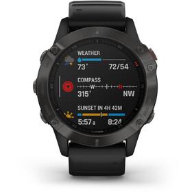 Garmin Fenix 6 Sapphire Multisport GPS Smartwatch, black/slate grey
